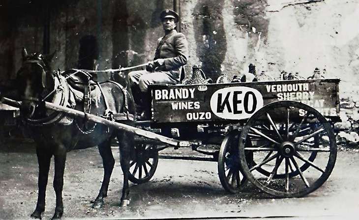 Keo Cyprus delivery wagon credit Vintage Signs Cyprus date unkown